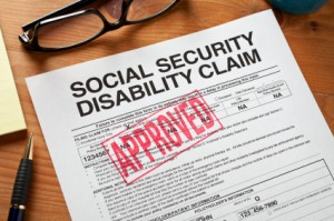 Social Security Disability Claim Form stamped in red with the word approved
