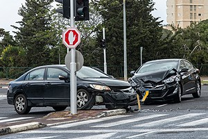 car accident in intersection