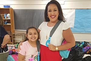 2017 Backpack Program Rachel and young girl