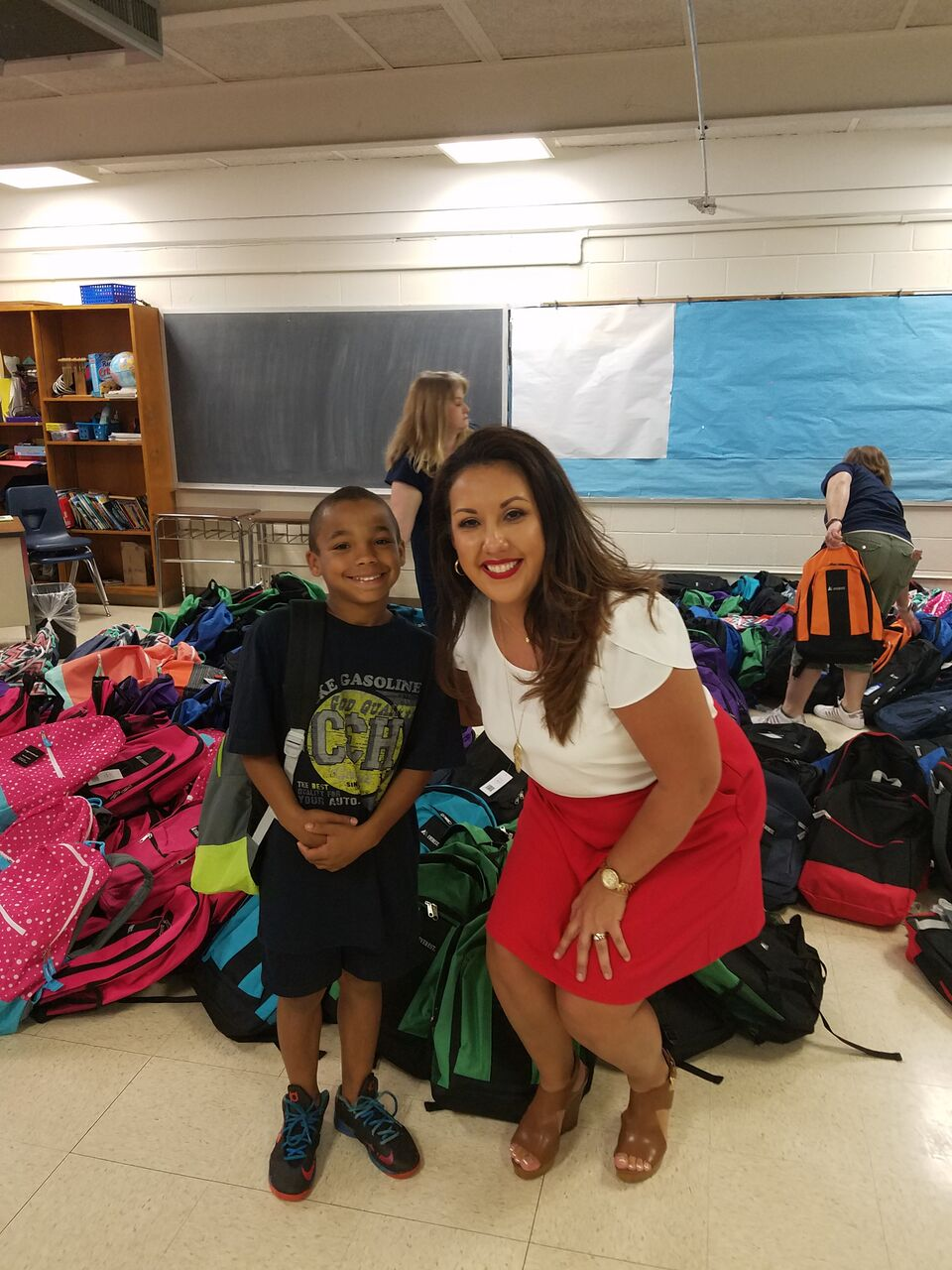 Attorney Rachel Gusman and Gilcrease Elementary Friend