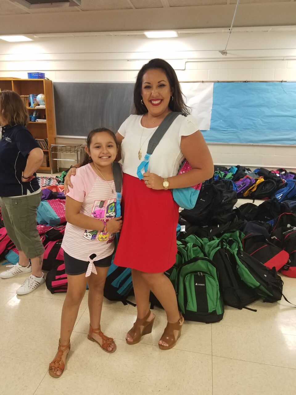 Attorney Rachel Gusman and Gilcrease Elementary Student