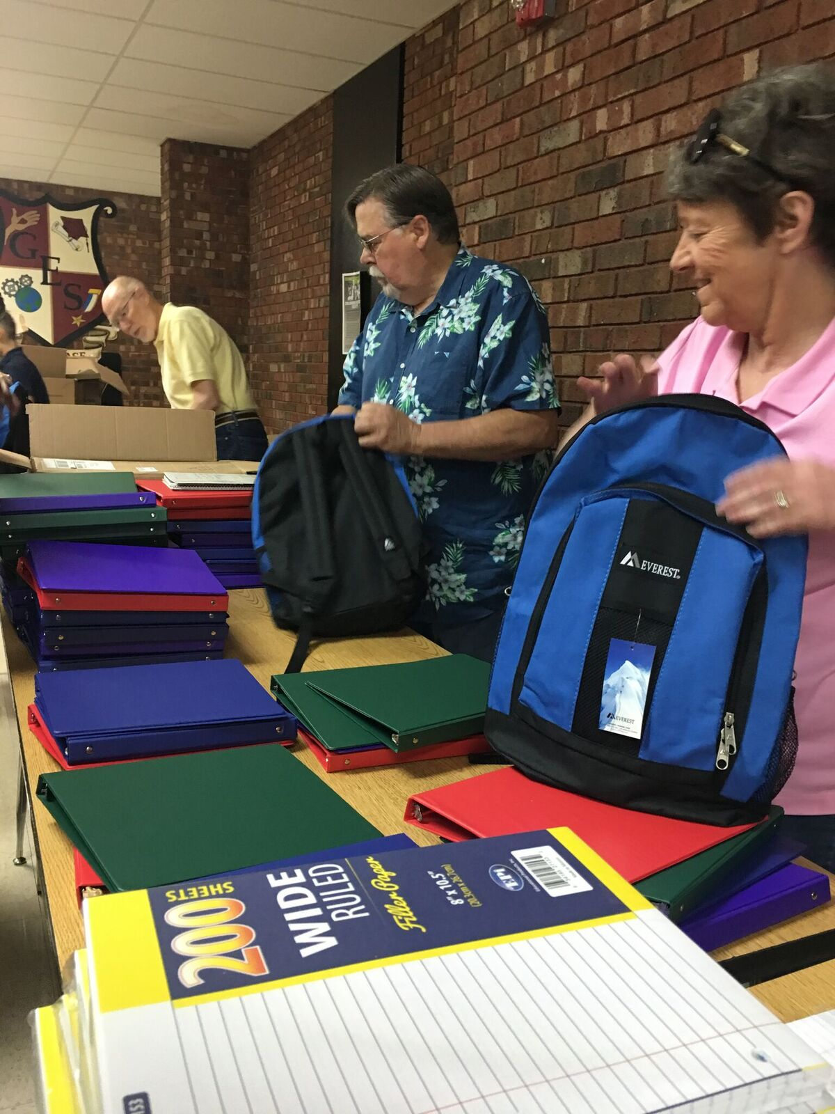 Gilcrease Elementary Backpack Stuffing