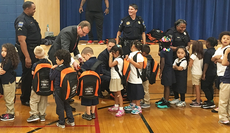 Jackson Elementary Students Get Backpacks