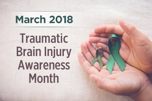 March is Traumatic Brain Injury Awareness Month graphic