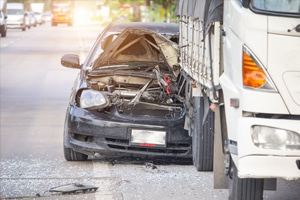 car accident with tractor trailer
